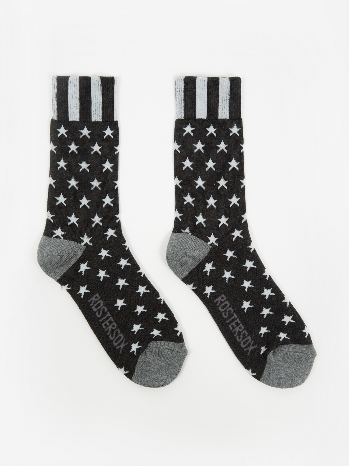 Rostersox USA Old Socks - Black Star (Image 1)