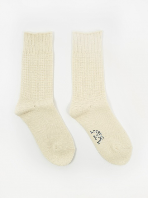 Wool Thermal Socks - White