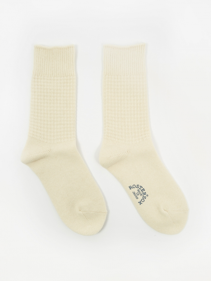 Rostersox Wool Thermal Socks - White (Image 1)