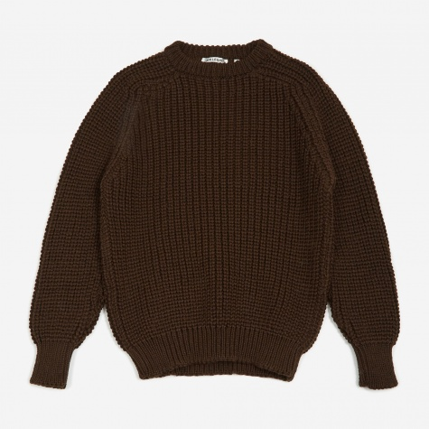 Heavy Chunk Raglan Sweater - Dark Clay