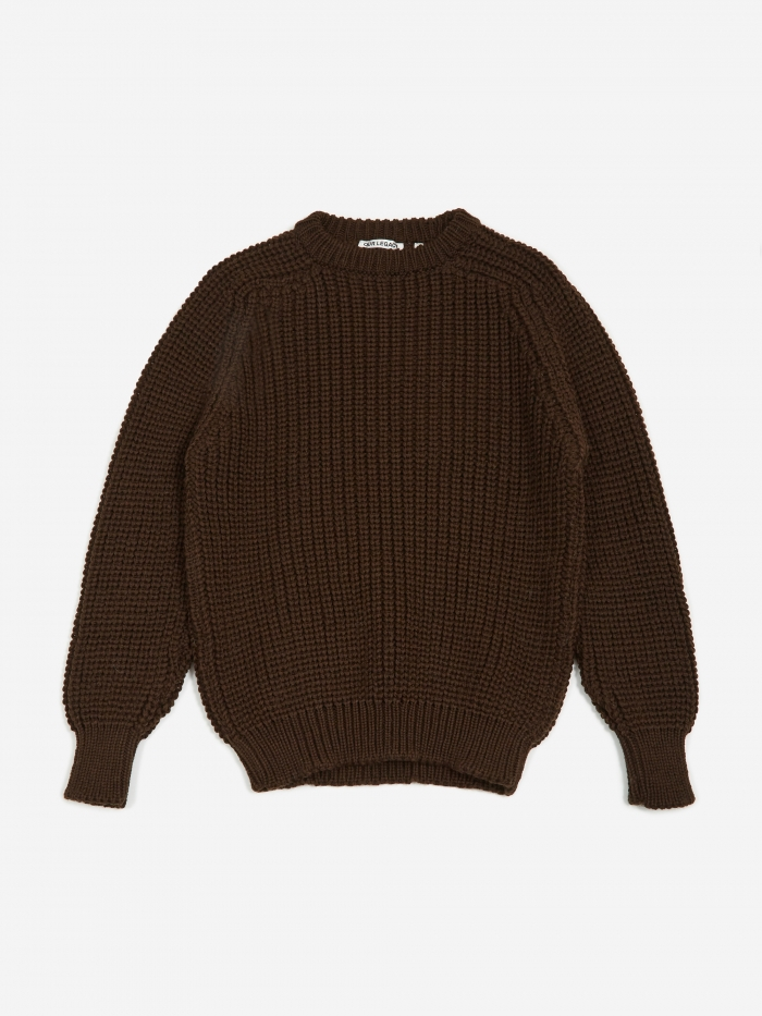 Heavy Chunk Raglan Sweater   Dark Clay by Our Legacy