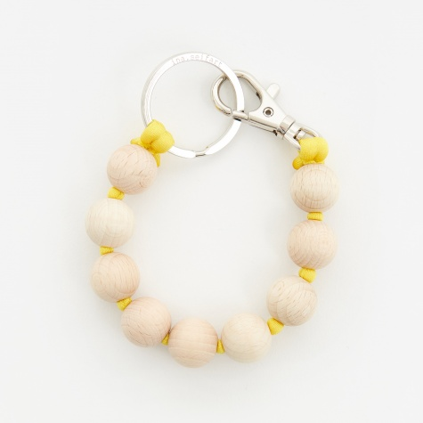Dicke Perlen Short Key Holder - Natural/Yellow