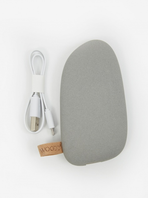 Wood'd Large Pebble Powerbank 5200 mAh - Grey