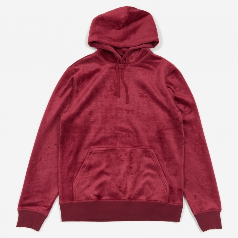 Pile Fleece Hood - Berry