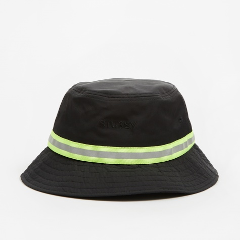 Reflective Tape Bucket Hat - Black