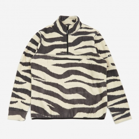 Polar Fleece Mock Neck - Zebra