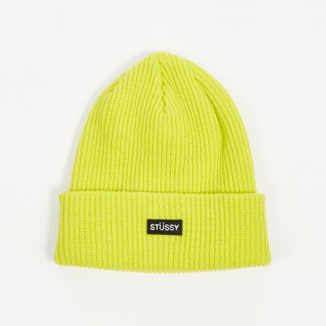 Small Patch Watch Cap Beanie - Neon Yellow