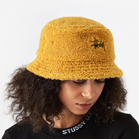 Sherpa Fleece Bucket Hat - Yellow