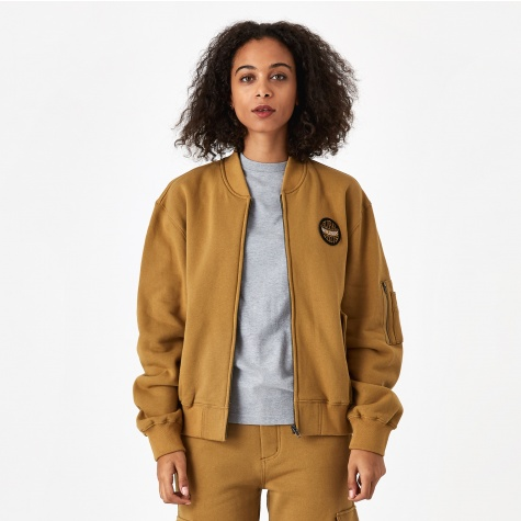 Bix Fleece Bomber Jacket - Mustard 50bcdae5be