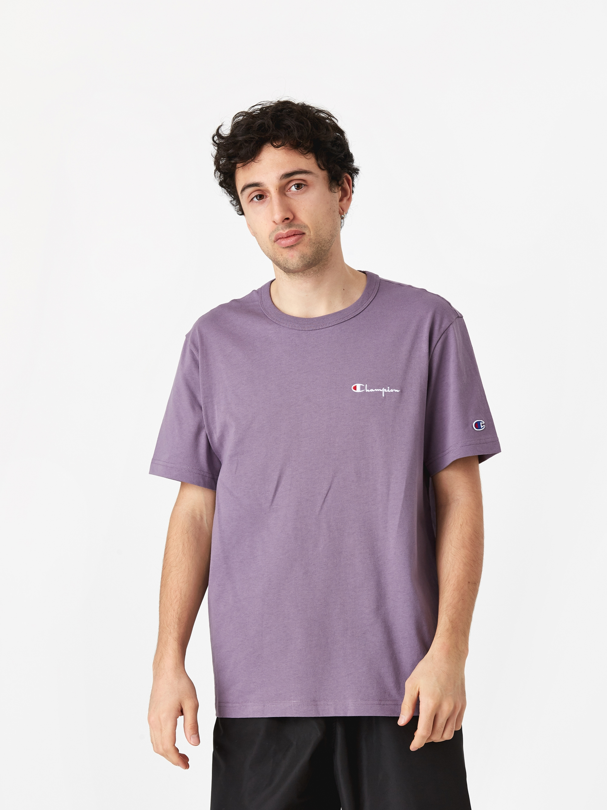 dbcad436e Champion Reverse Weave Crewneck T-Shirt - Purple