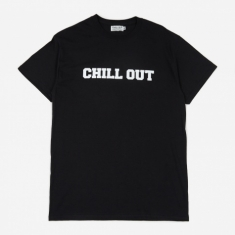 Chill Out Logo T-Shirt - Black/White Print
