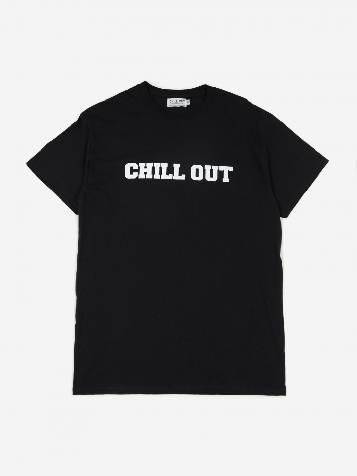 Chill Out Logo T-Shirt - Black/White Print (Image 1)