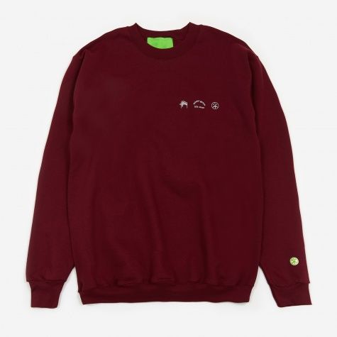 Trifecta Sweatshirt - Maroon/White