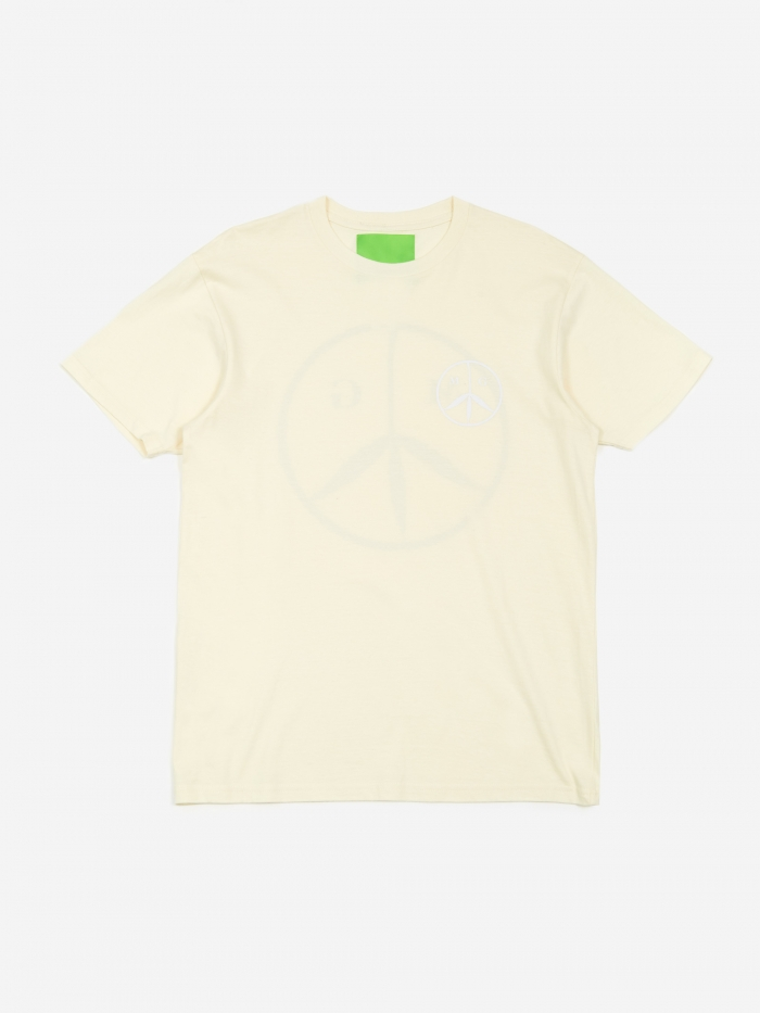 Mister Green Peace T-Shirt - Off White/White/Table Wine (Image 1)