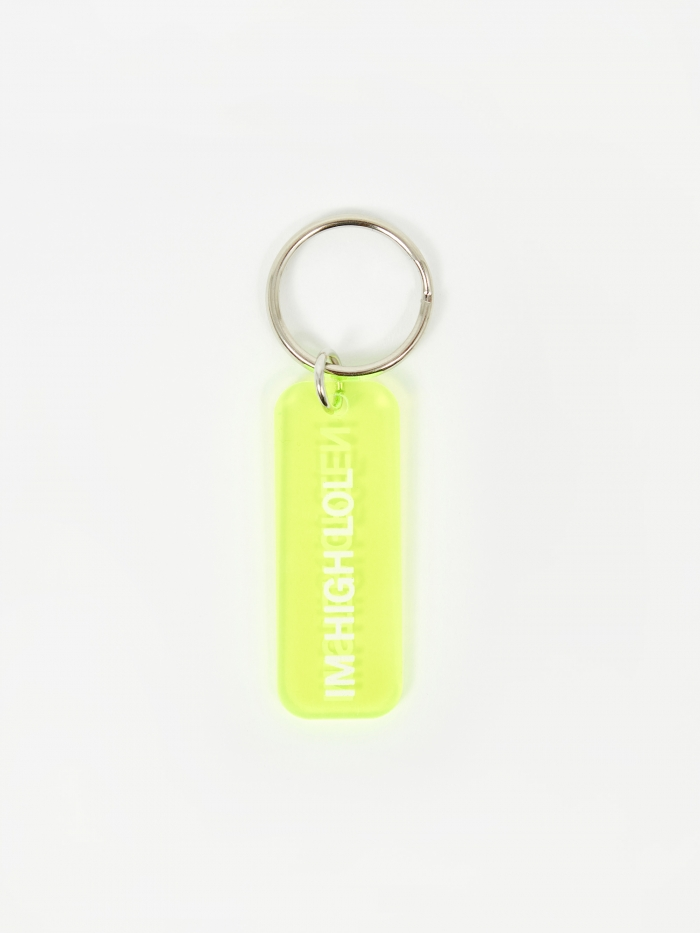 Mister Green I'm High Lol Keyring - Translucent Green (Image 1)
