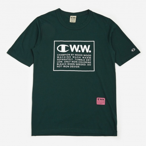 Reverse Weave x Wood Wood Crewneck T-Shirt - Forest
