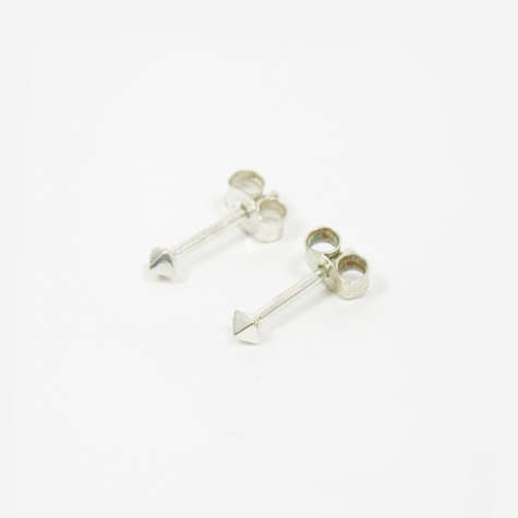 Pyramid Mini Stud Earrings - Sterling Silve
