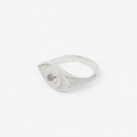 Rays Of Light Ring - Sterling Silver/Labradorit