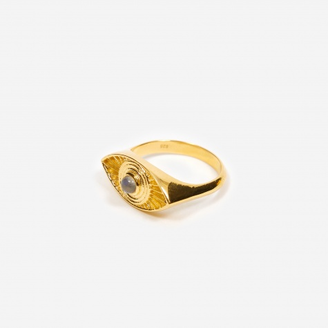 Rays Of Light Ring - 18ct Gold Plated/Labradori