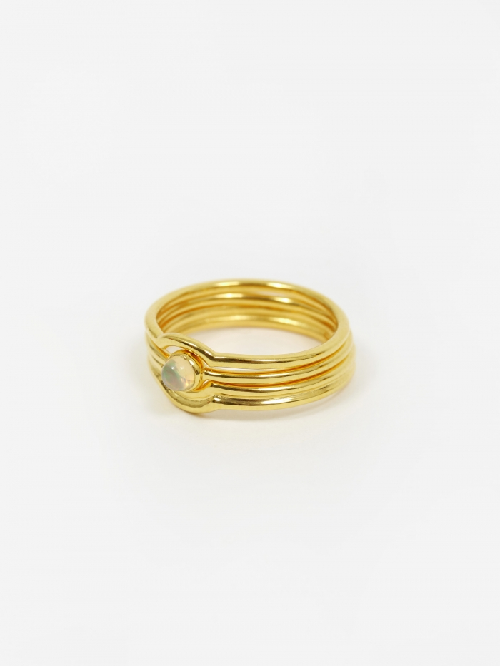 Rachel Entwistle Celestial Stacking Ring - 18ct Gold Plated (Image 1)