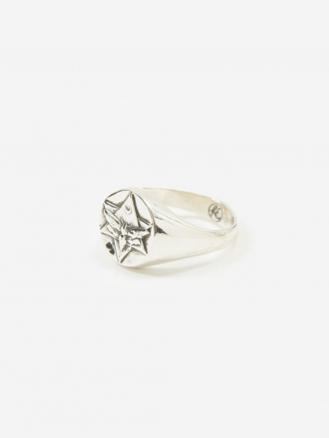 The Lunar Signet Ring - Sterling Silver