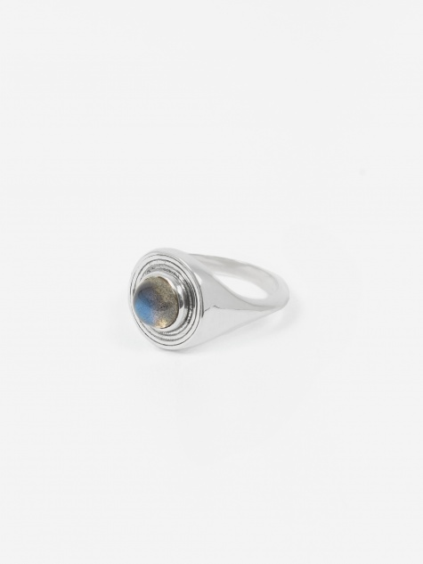 Rachel Entwistle Astral Signet Ring - Sterling Silver/Labradorit