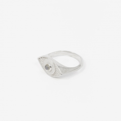 Rays Of Light Pinky Ring - Sterling Silver/Labr