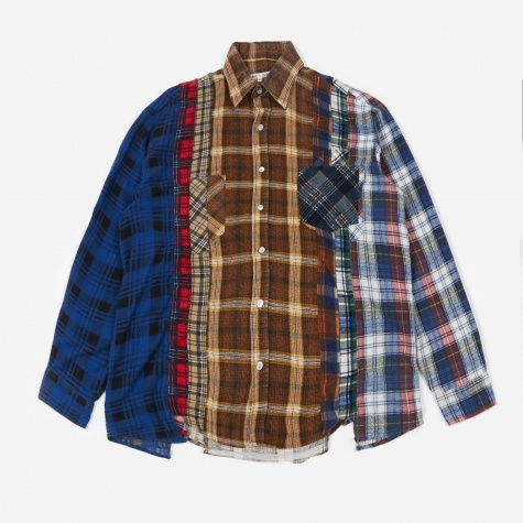 Rebuild 7 Cuts Flannel Shirt Size Small 1 - Assorted