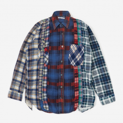 Rebuild 7 Cuts Flannel Shirt Size Small 2 - Assorted