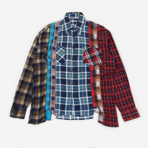 Rebuild 7 Cuts Flannel Shirt Size Medium 1 - Assorted