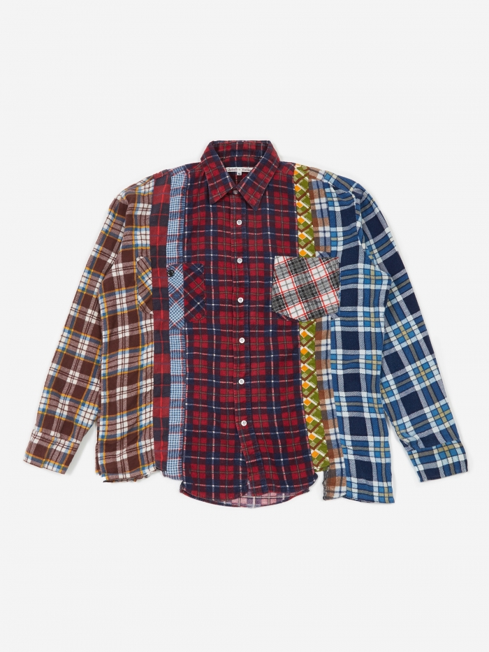 Needles Rebuild 7 Cuts Flannel Shirt Size Medium 2 - Assorted (Image 1)
