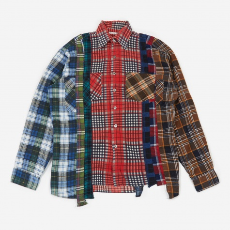 Rebuild 7 Cuts Flannel Shirt Size Medium 3 - Assorted