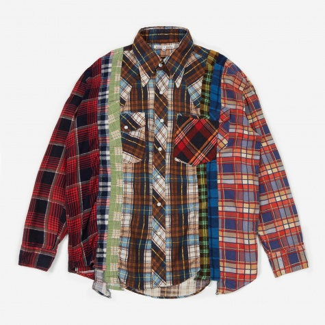Rebuild 7 Cuts Flannel Shirt Size Medium 4 - Assorted