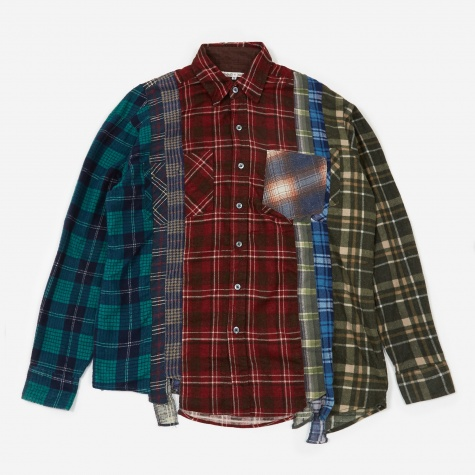 Rebuild 7 Cuts Flannel Shirt Size Medium 5 - Assorted
