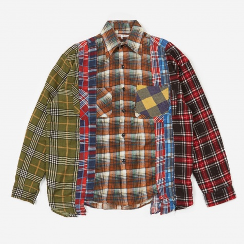 Rebuild 7 Cuts Flannel Shirt Size Medium 6 - Assorted