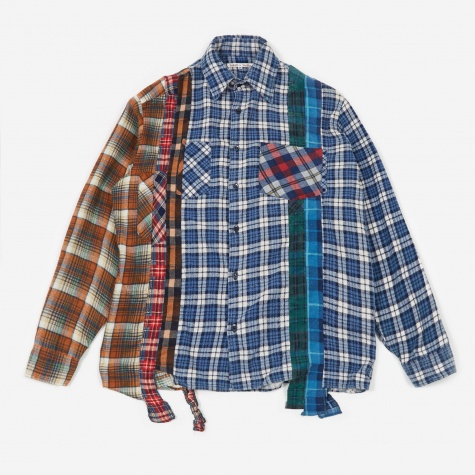 Rebuild 7 Cuts Flannel Shirt Size Medium 7 - Assorted