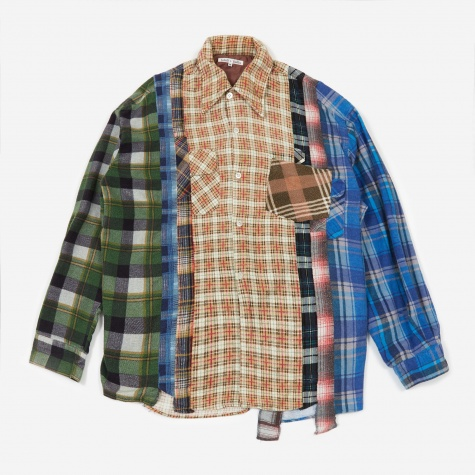 Rebuild 7 Cuts Flannel Shirt Size Medium 8 - Assorted