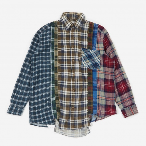 Rebuild 7 Cuts Flannel Shirt Size Large 1- Assorted