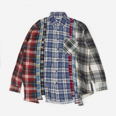 Rebuild 7 Cuts Flannel Shirt Size Large 2 - Assorted