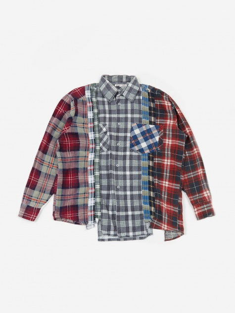 Rebuild 7 Cuts Flannel Shirt Size Large 3 - Assorted
