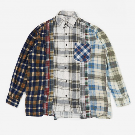 Rebuild 7 Cuts Flannel Shirt Size Large 6 - Assorted