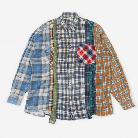 Rebuild 7 Cuts Flannel Shirt Size Large 8 - Assorted