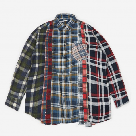 Rebuild 7 Cuts Flannel Shirt Size X-Large 4 - Assorted