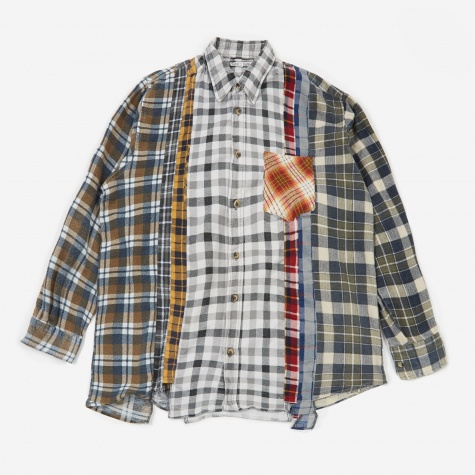 Rebuild 7 Cuts Flannel Shirt Size X-Large 5 - Assorted