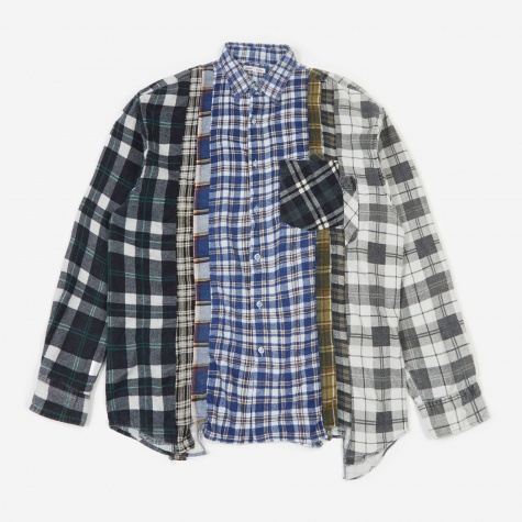 Rebuild 7 Cuts Flannel Shirt Size X-Large 6 - Assorted