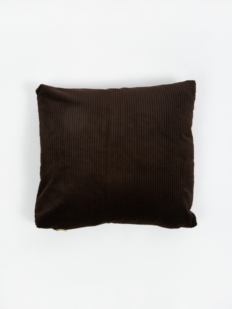 Corduroy Cushion 45x45cm - Chocolate