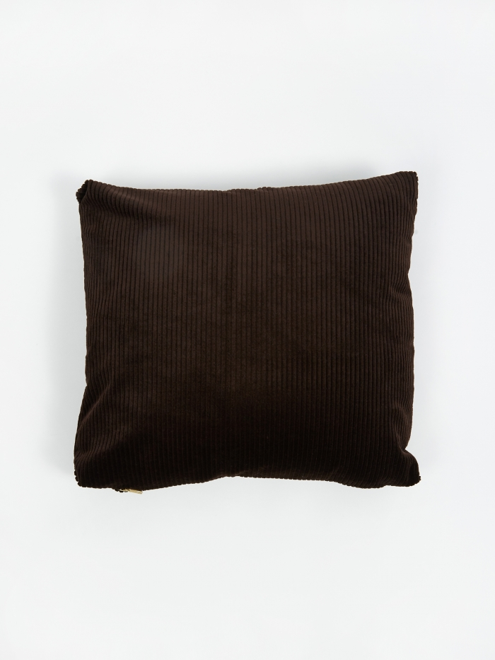 Ferm Living Corduroy Cushion 45x45cm - Chocolate (Image 1)
