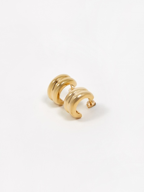Giulia Hoop Earrings - Gold Vermeil