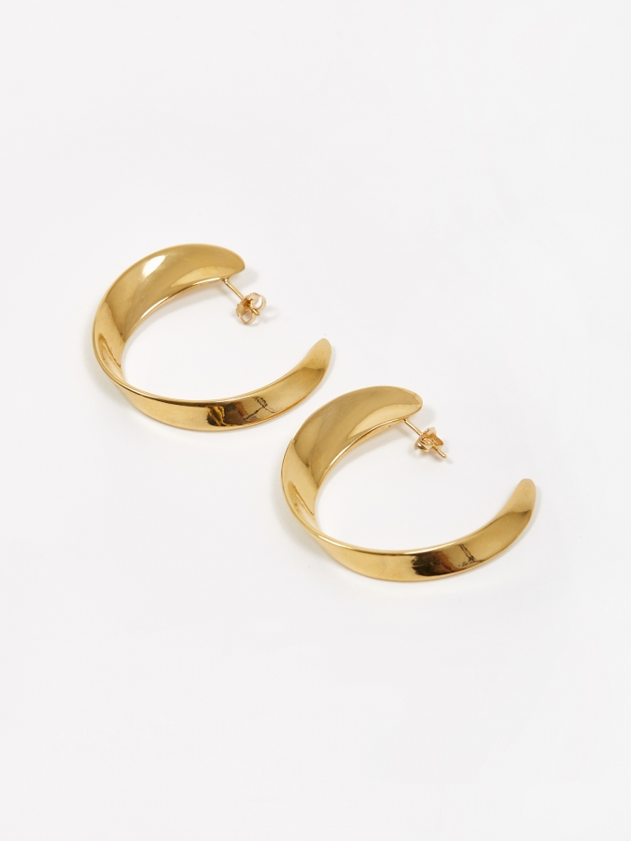 AGMES Daphne Hoop Earrings - Gold Vermeil (Image 1)