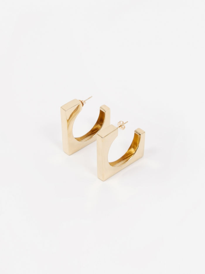 AGMES Large Isa Earrings - Vermeil Gold (Image 1)